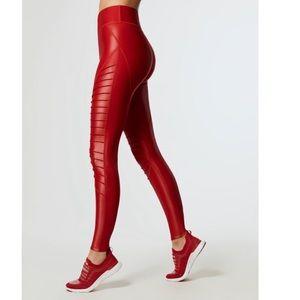 Carbon38 Glossy Moto leggings